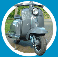 Grey light blue scooter (109)