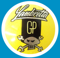 Black and Yellow Skull design Lambretta (107)